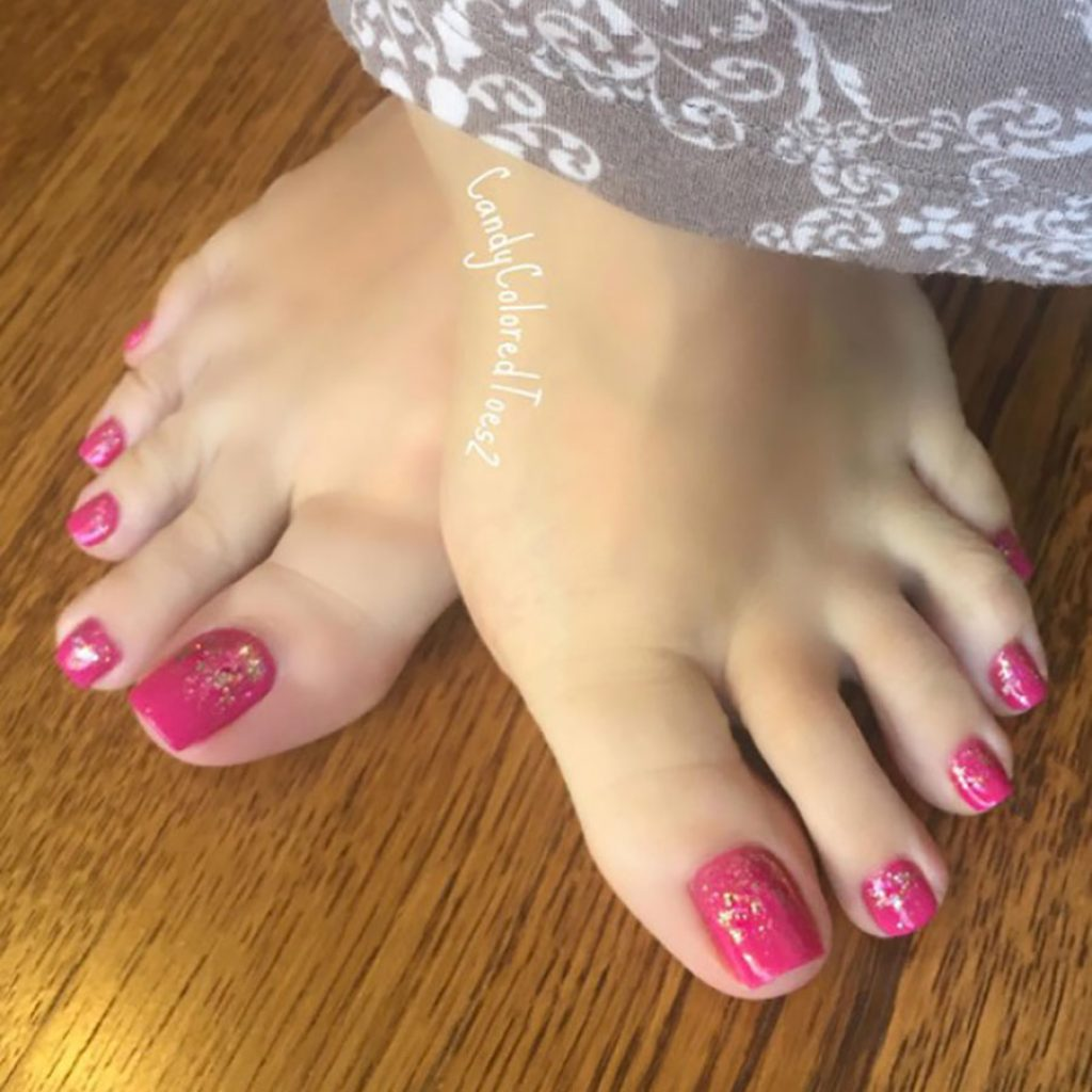 candy colored toes