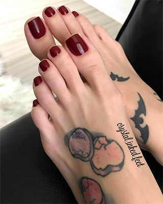 Crystal Inked Feet